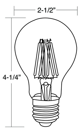 A19 LED Filament Bulbs