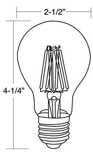 A19 LED Filament Bulbs